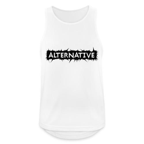 Spike T-shirt White - Tank top męski oddychający