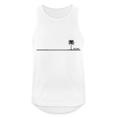 Palm dubai beach black and white - Canotta da uomo traspirante