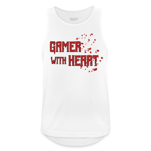 Gamer with heart - Men's Breathable Tank Top