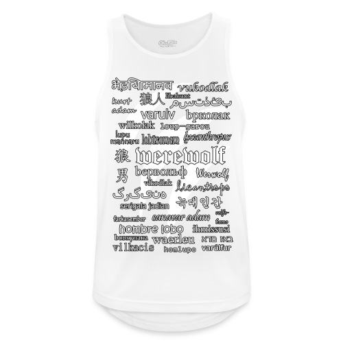 Werewolf in 33 Languages (Black Version) - Tank top męski oddychający