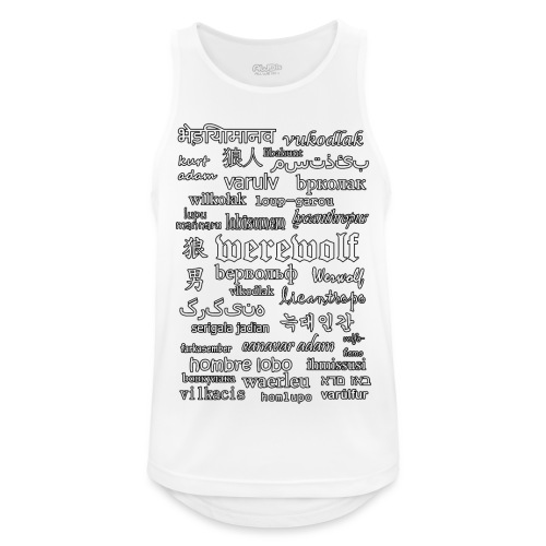 Werewolf in 33 Languages (Black Ver.) - Men's Breathable Tank Top