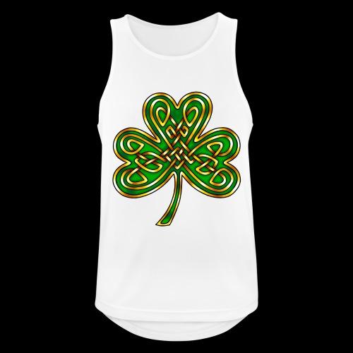 Celtic Knotwork Shamrock - Men's Breathable Tank Top