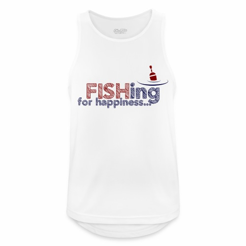 Fishing For Happiness - Men's Breathable Tank Top