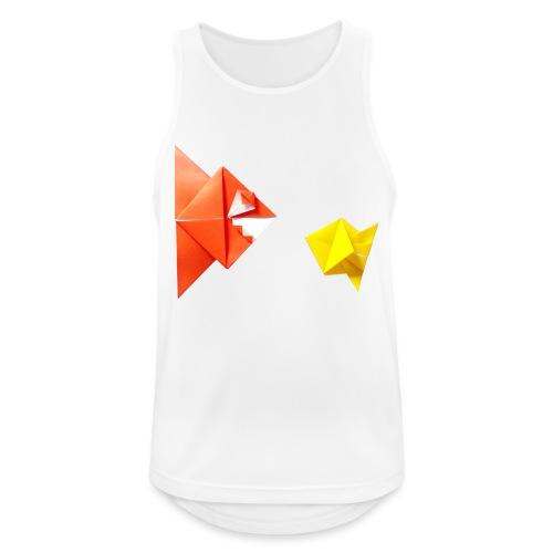 Origami Piranha and Fish - Fish - Pesce - Peixe - Men's Breathable Tank Top