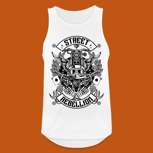 Motorrad Shirt - Street Rebellion (dreifarbig) - Männer Tank Top atmungsaktiv