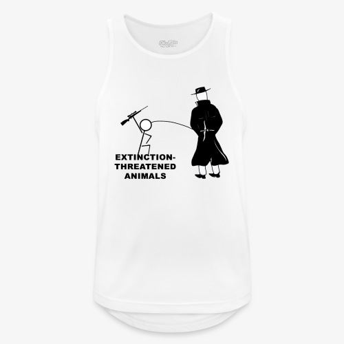 Pissing Man against hunting for endangered animals - Männer Tank Top atmungsaktiv