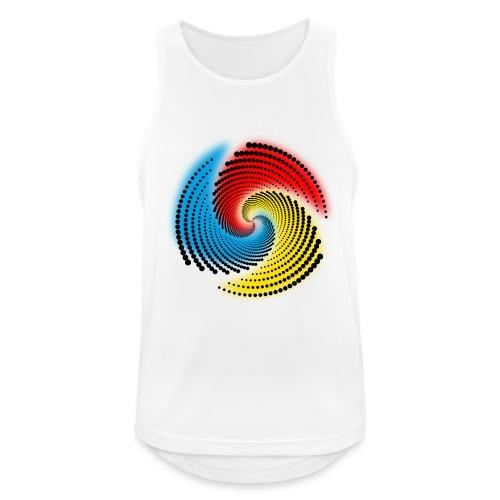 Farbspirale - Männer Tank Top atmungsaktiv