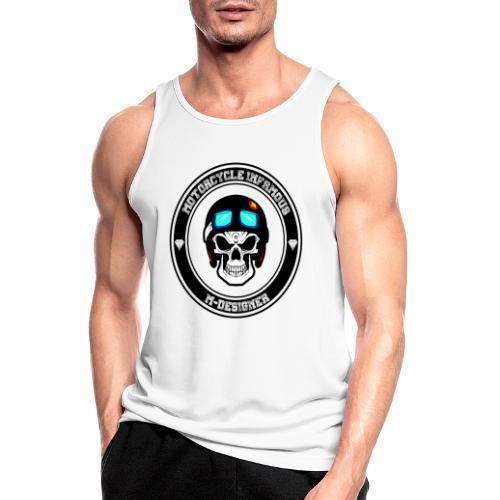 calavera con casco de moto impresa en playera - Camiseta sin mangas hombre transpirable