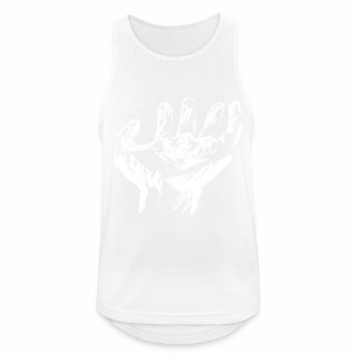 mano blanca - Camiseta sin mangas hombre transpirable