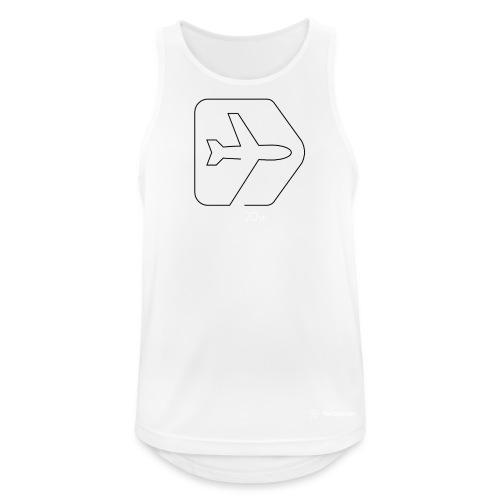 Netzpiloten Logo weiss - Männer Tank Top atmungsaktiv