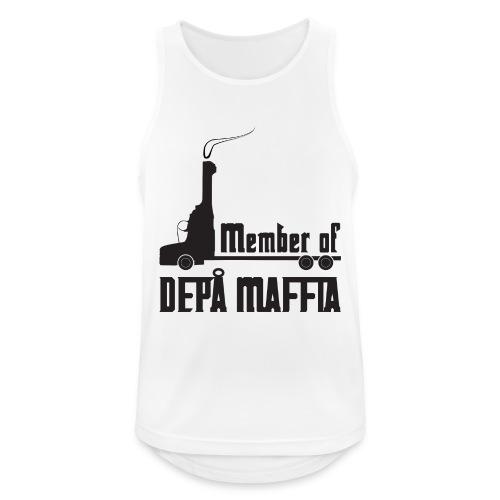 Depå Maffia svart tryck - Andningsaktiv tanktopp herr