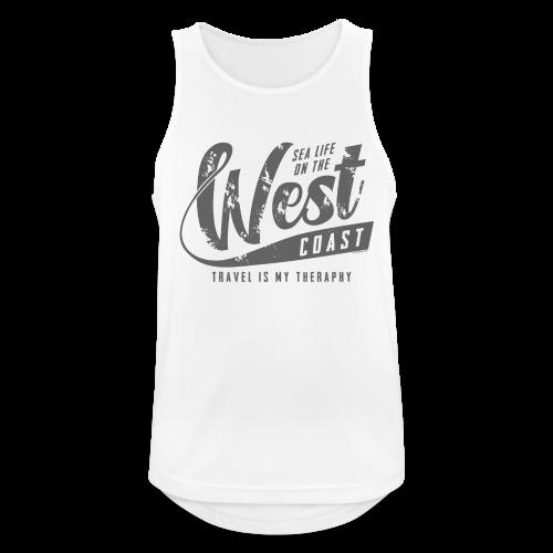 West Coast Sea surf clothes and gifts GP1306B - Miesten tekninen tankkitoppi
