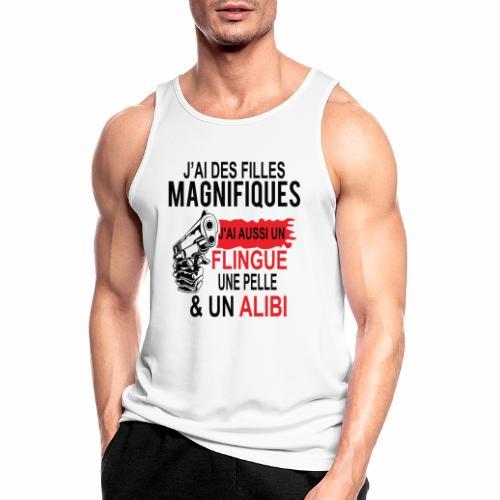J'AI DEUX FILLES MAGNIFIQUES Best t-shirts 25% - Débardeur respirant Homme