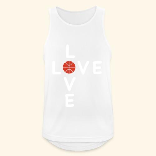 LOVE Cross basketball red 001 - Männer Tank Top atmungsaktiv