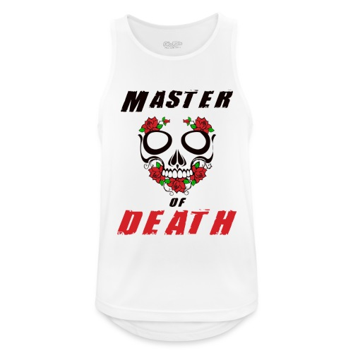 Master of death - black - Tank top męski oddychający