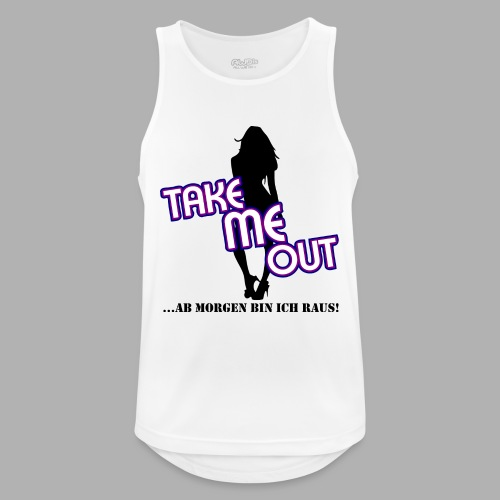 Take me out_Sie_Variante 1.png - Männer Tank Top atmungsaktiv
