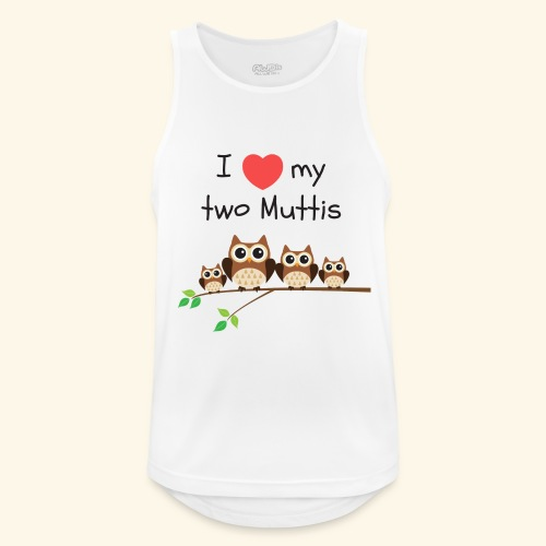 I love my two Muttis - Débardeur respirant Homme