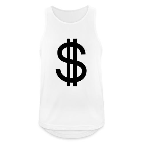 Dollar - Camiseta sin mangas hombre transpirable