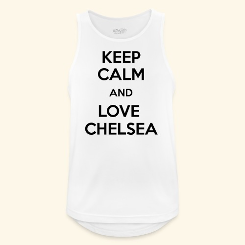 keep calm and love chelsea - Men's Breathable Tank Top