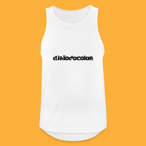 DJATODOCOLOR LOGO NEGRO - Camiseta sin mangas hombre transpirable