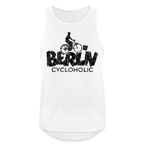 Berlin Cycloholic (Vintage/Schwarz) Fahrradfahrer - Männer Tank Top atmungsaktiv