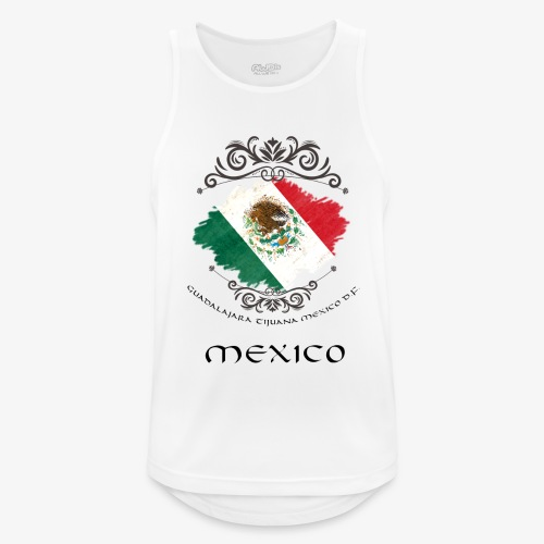 Mexico Vintage Bandera - Männer Tank Top atmungsaktiv