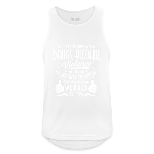 I hate to advocate drugs - Pustende singlet for menn