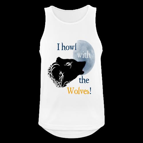 Wolf howl - Männer Tank Top atmungsaktiv