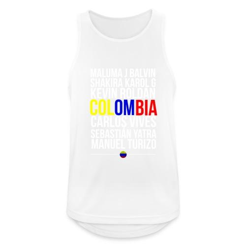 Reggaeton Shirt Kolumbien - Männer Tank Top atmungsaktiv