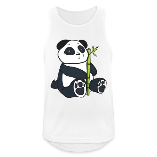 Oso Panda con Bamboo - Camiseta sin mangas hombre transpirable