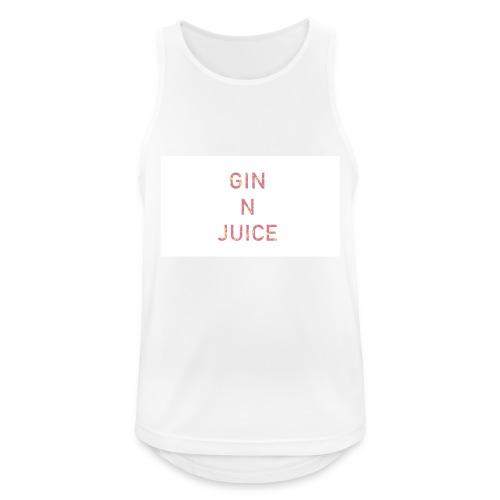 Gin n juice geschenk geschenkidee - Männer Tank Top atmungsaktiv
