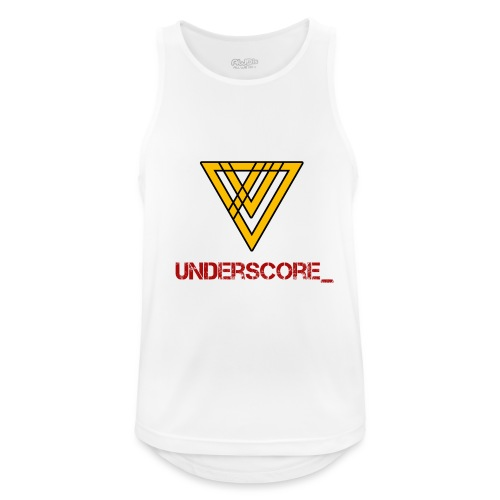 Underscore Yellow Red - Men's Breathable Tank Top
