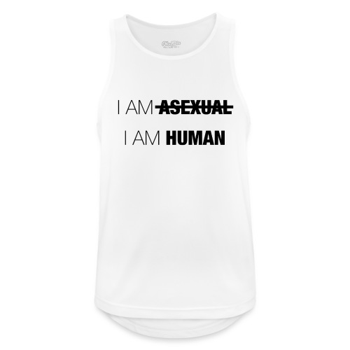 I AM ASEXUAL - I AM HUMAN - Men's Breathable Tank Top