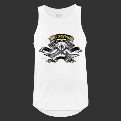 screaming pistons - Mannen tanktop ademend