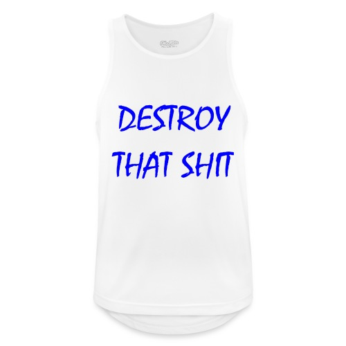 DestroyThatSh ** _ blue - Men's Breathable Tank Top