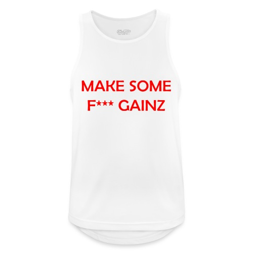 MakeSomeF *** Gainz_red - Men's Breathable Tank Top