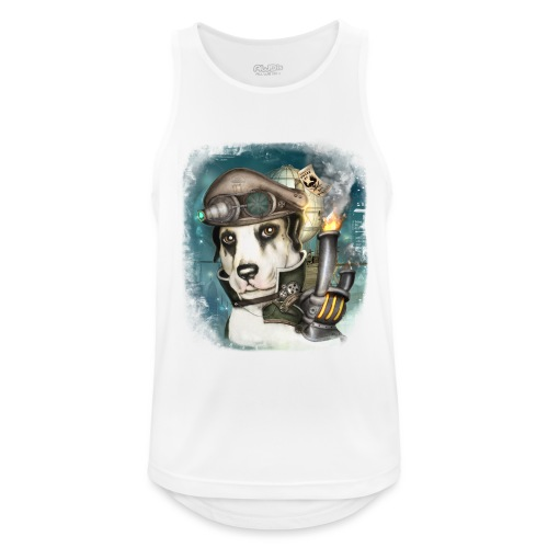 Steampunk Dog #2b - Canotta da uomo traspirante