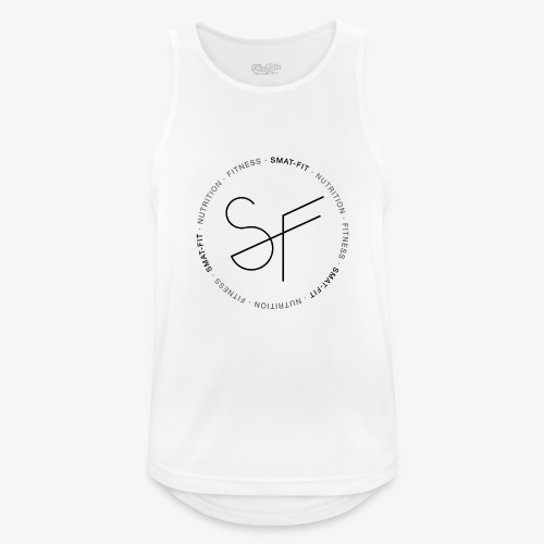 SMAT FIT nutrition & fitness white home - Camiseta sin mangas hombre transpirable