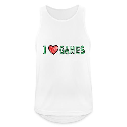 I Love Games - Tank top męski oddychający