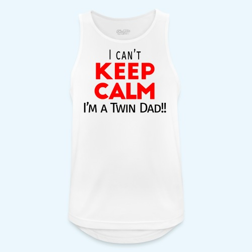 I Can't Keep Calm (Dad's Only!) - Mannen tanktop ademend