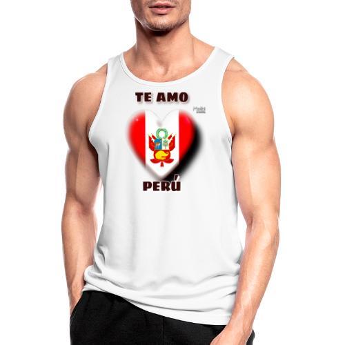 Te Amo Peru Corazon - Männer Tank Top atmungsaktiv