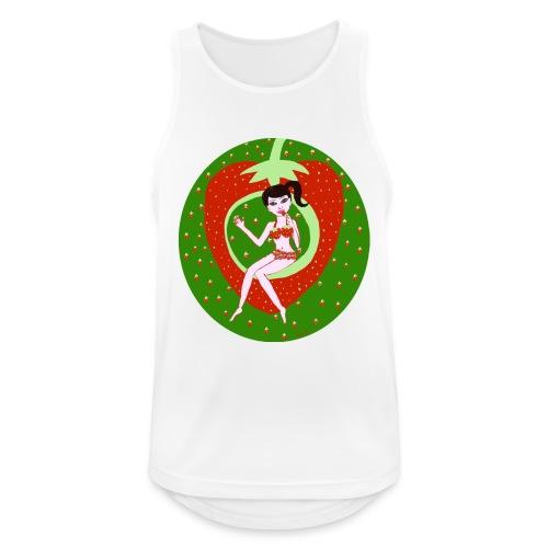 Strawberry Girl - Männer Tank Top atmungsaktiv