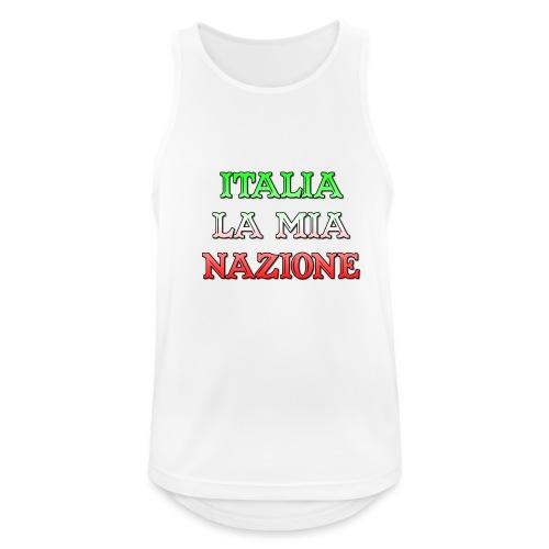 ITALIA LA MIA NAZIONE - Canotta da uomo traspirante