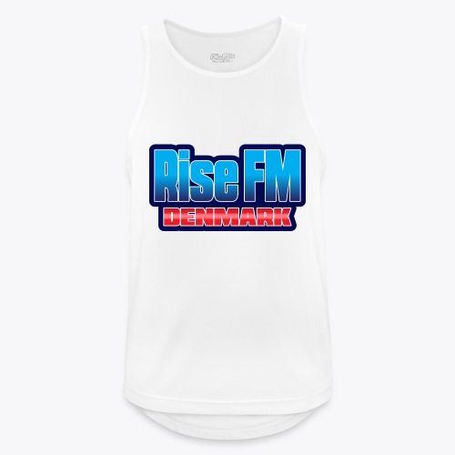 Rise FM Denmark Text Only Logo - Men's Breathable Tank Top