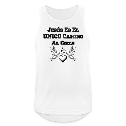 Jesus Unico camino al cielo - Camiseta sin mangas hombre transpirable
