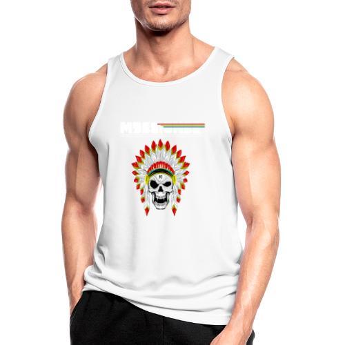 calavera o craneo con penacho de plumas vampiresco - Camiseta sin mangas hombre transpirable