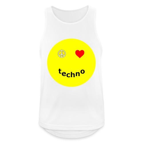 camiseta paz amor techno - Camiseta sin mangas hombre transpirable
