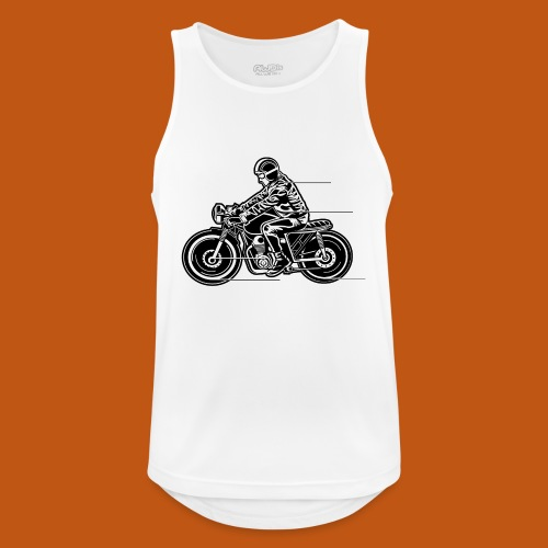 Cafe Racer Motorrad 04_schwarz weiß - Männer Tank Top atmungsaktiv