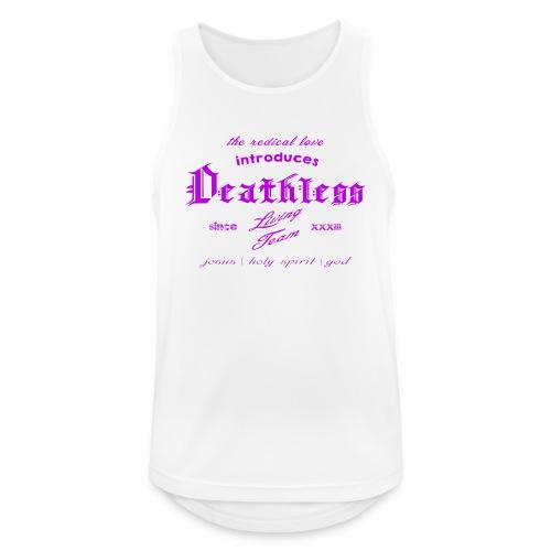 deathless living team violet - Männer Tank Top atmungsaktiv