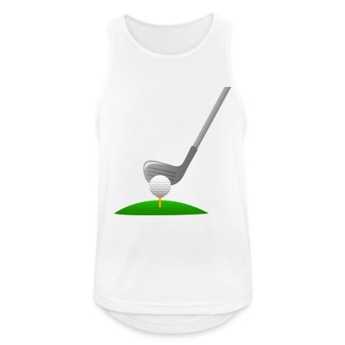 Golf Ball PNG - Camiseta sin mangas hombre transpirable